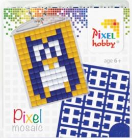 Pixelhobby Pixel mosaic medaillon startset uil sleutelhanger