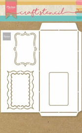 Marianne Design Craft Stencil A4 Slimline Enveloppe PS8079