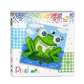 Pixelhobby Pixel set groene kikker 12 x 12 cm