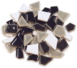 Flip keramische mini mix mozaïek grijs/zwart/wit bakje à 65 gram