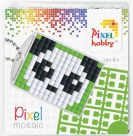 Pixelhobby Pixel mosaic medaillon startset panda sleutelhanger