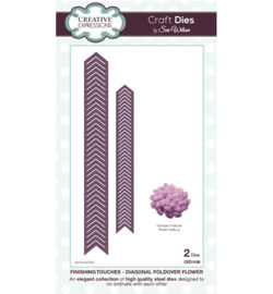 Creative Expressions Craft Dies (2 mallen) CED1436 Diagonal Foldover Flower