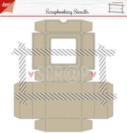 Joy!Crafts polybesa stencil scrap box met klapdeksel 6005/0003