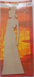 MDF Rico Design Galerie African Lady 1 48 cm, 5 mm dik