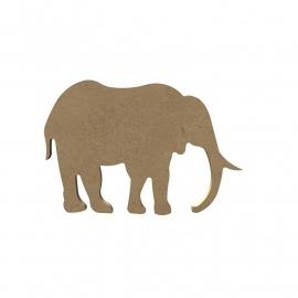 Gomille MDF olifant 15,3 x 10,3 cm dikte 5 mm