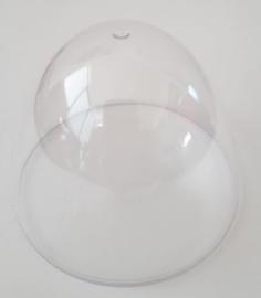 Transparant plastic bovenstuk ei 7,5 cm hoog en Ø 8,9 cm
