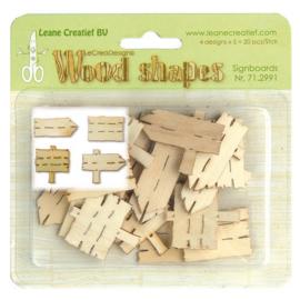 Leane Creatief Wood shapes Signboards (uithangborden) 20 stuks 71.2991