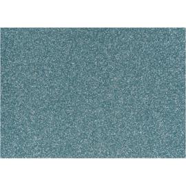 Opstrijkfolie glitter licht blauw 1 vel A5 14,8 x 21 cm