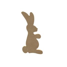 Gomille MDF konijn 7,3 x 14,5 cm dikte 5 mm