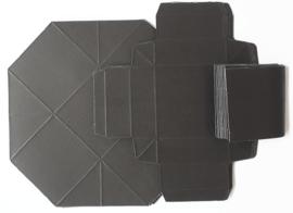Kleurrijke vouwdozen 10 stuks zwart 5,5 x 5,5 cm 250 grams papier