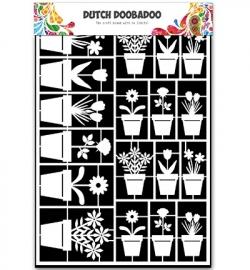 Dutch Doobadoo Paper Art A5 flower pots (bloempotten) 472.948.019
