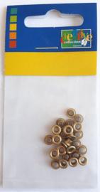 Eyelets metallic antique 25 stuks buitenmaat 5 mm binnenmaat 3 mm