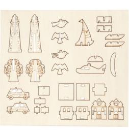 DIY houten (triplex) figuren 16,9 x 15,4 cm dikte 2 mm 57881