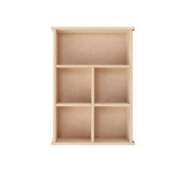 Pronty MDF verzamelkastje rechthoek 5-vaks 14,8 x 5,4 x 21 cm 460.423.230