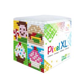 Pixelhobby XL mosaic kubussetje tussendoortjes 6,2 x 6,2 cm