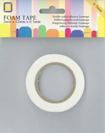 JeJe 3D Foam Tape 0,5 mm 2 meter x 12 mm x 0,5 mm 3.3005