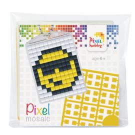 Pixelhobby Pixel mosaic medaillon startset smiley sleutelhanger