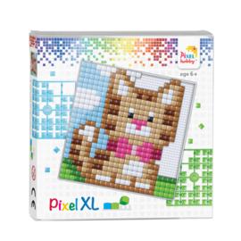 Pixelhobby Pixel  XL set kitten (poes) 12 x 12 cm