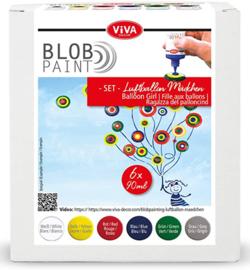 Viva Decor Blob paint (verf) FarbSet Luftballon Mädchen 6 x 90 ml
