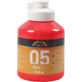 A' Color 05 acrylverf neon rood fles 500 ml