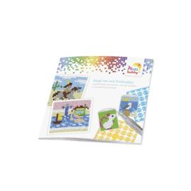 Pixelhobby inspiratieboekje voor kleine basisplaat & medaillons 16 x 16 cm