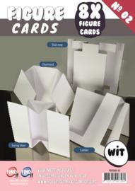 Find It figure cards 8 kaarten nummer 2 wit FGCS002-01