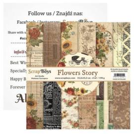 Art Studio ScrapBoys Flowers Story paperpad 15,2 x 15,2 cm