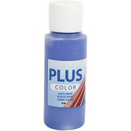 Plus Color acrylverf ultramarine (marineblauw) fles 60 ml