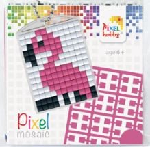 Pixelhobby Pixel mosaic medaillon startset flamingo sleutelhanger
