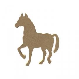 Gomille MDF paard 9,9 x 11,3 cm dikte 5 mm