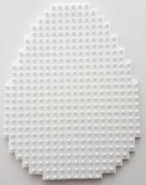 Paasei groot 1 stuk (gesneden uit wit flexibele basisplaat) 5 x 6,5 cm