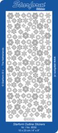 Starform 8530 Christmas ice crystals zilver (ijskristallen)