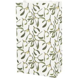 Vivi Gade Design papieren zakken maretak 10 stuks 80 grams 21 x 6  x 12 cm