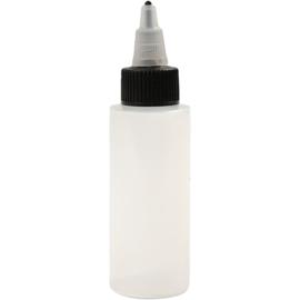 Lege plastic fles met schroefdop en punt 60 ml