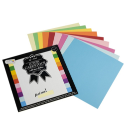 Craft Sensations luxe linnen kartonblok 30,5 x 30,5 cm assorti 20 vellen