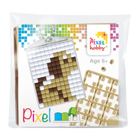 Pixelhobby Pixel mosaic medaillon startset puppy sleutelhanger