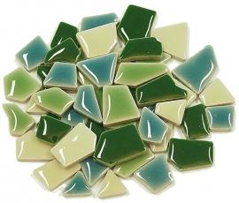 Flip keramische mini mix mozaïek groen bakje à 65 gram