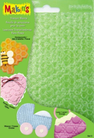 Makin's Clay klei structuur sheets set C 4 sheets assorted
