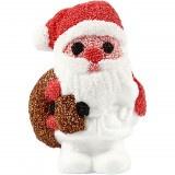 Styropor (piepschuim) Kerstman wit 11 x 7 x 17 cm