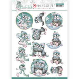 Yvonne Creations Wintertime pinguïn 3D push out SB10505