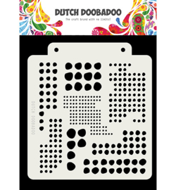 Dutch Doobadoo Mask Art Blobs 14,8 x 16,3 cm 470.715.318