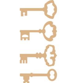 MDF Pronty basic ornamenten sleutels assorti 4 stuks 461.638.907