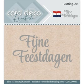 Card Deco Essentials Fijne Feestdagen Cutting Die (snijmal) CDECD0035