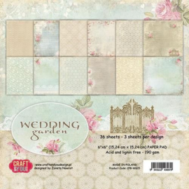 Craft&You Design wedding garden paper pad 15,2 x 15,2 cm CPB-WG15