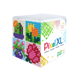 Pixelhobby XL mosaic kubussetje bloemen 6,2 x 6,2 cm