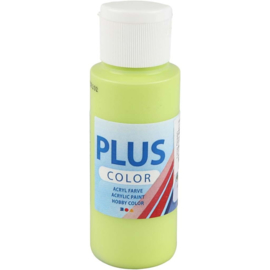 Plus Color acrylverf lime green (limoen groen) fles 60 ml