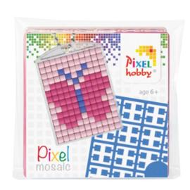 Pixelhobby Pixel mosaic medaillon startset vlinder sleutelhanger