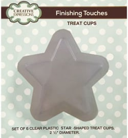 Creative Expressions Finishing Touches treat cup star (ster) 6 stuks