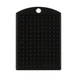 Pixelhobby medaillon plaatje zwart 3 x 4 cm
