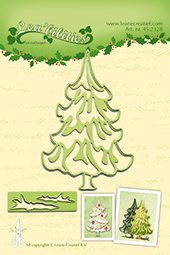Leane Creatief Lea'bilities Christmas tree snij en embossing dies (mal) 45.2328